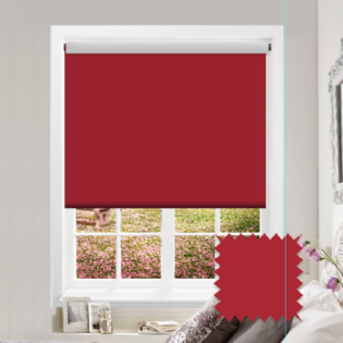 Red Roller Blind - Bahamas Maroon
